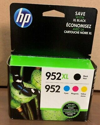 4-PACK HP GENUINE 952XL Black & 952 Color Ink  OFFICEJET PRO 8710 new in box