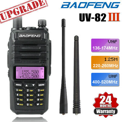Upgraded BAOFENG UV-82 III Tri-Band 2 Way Radio UHF VHF Walkie Talkie Interphone