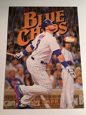 2019 Topps Finest Blue Chips Jumbo 5x7 Ian Happ Cubs IH 02/49
