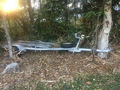 Second Hand Boat Trailer - New Axel - Not Registered - 5 metres - Spare Tyre