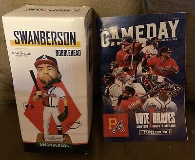 2019 Swanberson Bobblehead Atlanta Braves Giveaway SGA 6/11/19 & Gameday Program