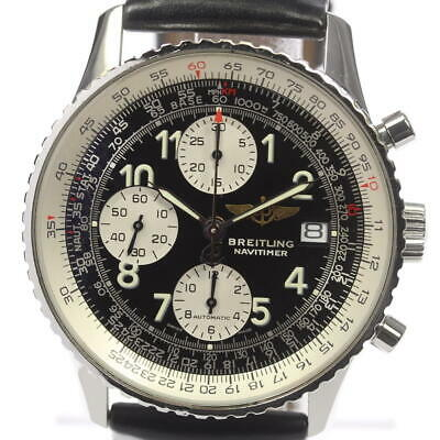 BREITLING Old Navitimer A13322 Men's Automatic leather belt #clb092