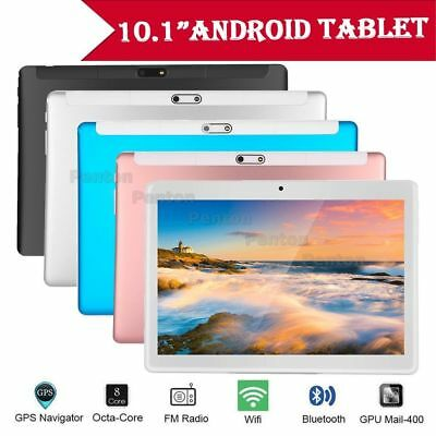"""10.1"""" Tablet PC Android 7.0 Google 32GB Wifi Octa-core Dual Camera GPS Lot DY"""
