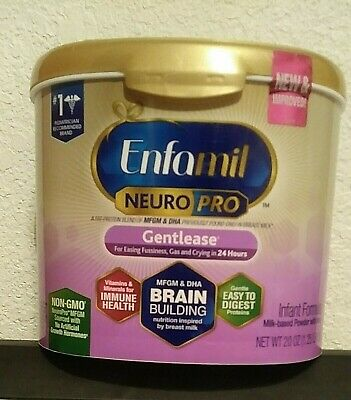 Enfamil Gentlease NeuroPro Baby Formula, Powder, 20 oz ( 1 Tub ) EXP. 08/01/2020