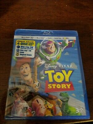 Disney Toy Story Blu-ray 3D 4 Disc Combo Pack Sealed Rare