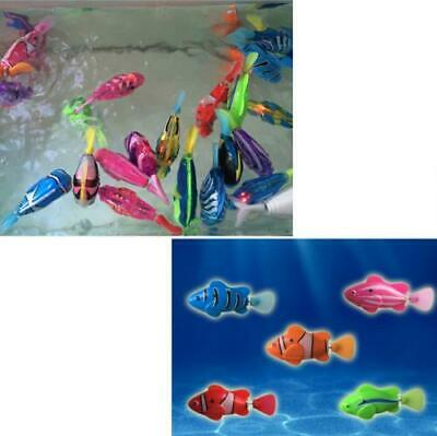 5Pcs Electric  Robot Swimming Fish Bath/Shower Water Toys Float for Baby/Kids