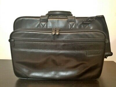 Briggs and Riley Expandable Leather Computer Brief LBW4X-4 Black