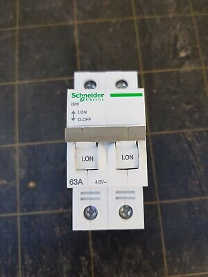 Schneider Electric A9F74263IC60N Disjoncteur, Acti9, 2P, 63A, courbe C, 50/60H