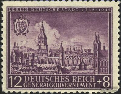 General 92 unmounted mint / never hinged 1942 City Lublin