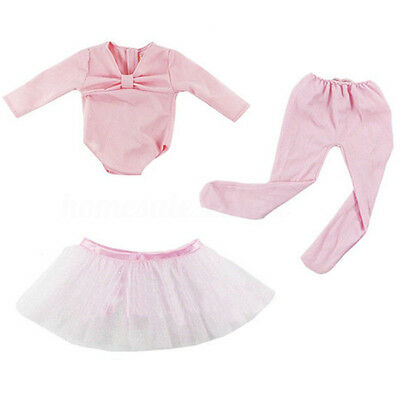Hot Handmade Pink Doll Clothes Ballet Dress Fit for 18'' American Baby Dolls
