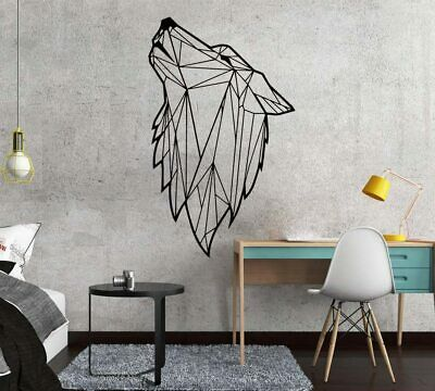 Nordic Style Art Geometric Wolf vinyl Wall Sticker For Living Room Decoration