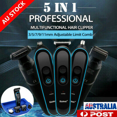 Kemei 5In1 Electric Hair Clippers Men Shaver Beard Trimmer Cordless Grooming Set