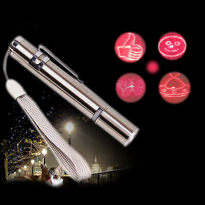 2 in 1 White LED Light Torch Mini Red Laser Pointer USB Recharge Pen Pet Cat Toy