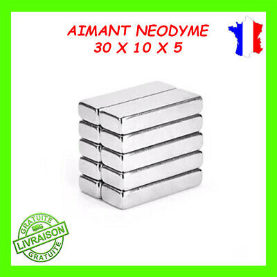 Lots Aimants Puissants De Néodyme 30X10X5mm NdFeB N42 Force 6kg/Aimant