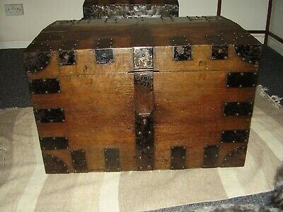 Mid Victorian Oak Silver Chest , originally owned by Viscount Amberley