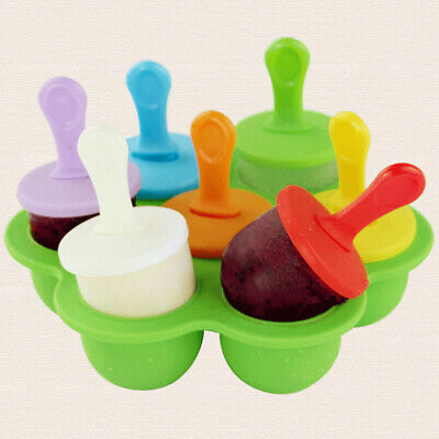 7Grid Frozen Mini Ice Cream Lollipop Maker Mold DIY Popsicle Mould Maker AM8