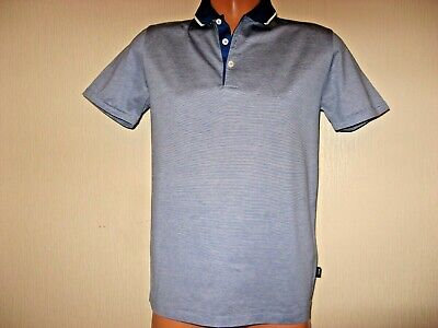Worn Once Boys Blue Short Sleeve Hugo Boss Cotton Fitted Polo Shirt Age 14-15-16