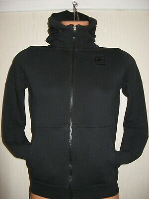 Worn Once Boys Black Nike Air Max Short Hooded Jacket Sports Hoodie Age 11-12-13