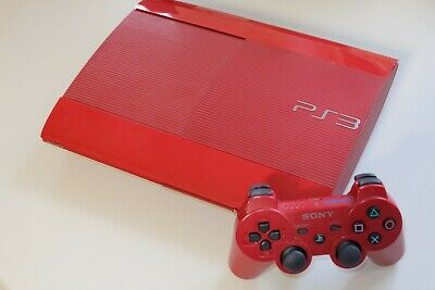 Sony Playstation 3 Super Slim Rot PS3 Konsole 500 GB mit original Controller