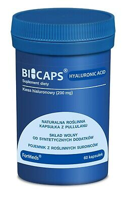 Hyaluronic Acid BioCaps Natural Capsules Anti Age High Dose 200mg 60 Servings