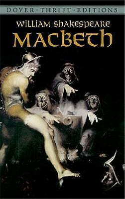 """""""VERY GOOD"""" Macbeth (Dover Thrift Editions), Shakespeare, William, Book"""