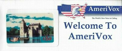 1990's AmeriVox Castle Collectible Prepaid Phone Card