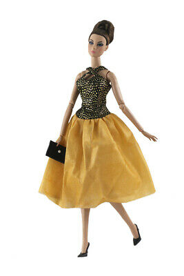 2in1 Fashion Clothes/Outfit/dress+bag for 11.5 in. Doll c34