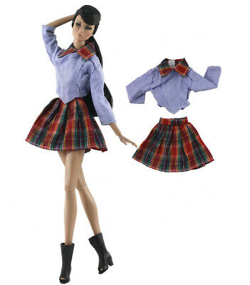 2in1 Set Fashion Dress/Clothes/Outfit Top+skirt for 11.5 in. Doll c36