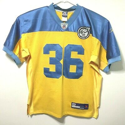 the best attitude 4f23b 61902 philadelphia eagles blue and yellow jersey