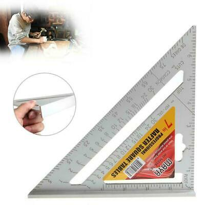 7inch Aluminum Alloy Measuring Right Angle Triangle Ruler Woodworking Tool