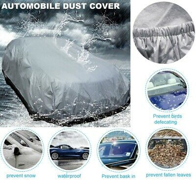 UK STOCK Full Car Cover Universal Waterproof Breathable Heavy Duty Medium Size M