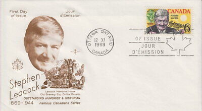 Canada #504 6¢ Stephen Leacock On Rose Craft First Day Cover