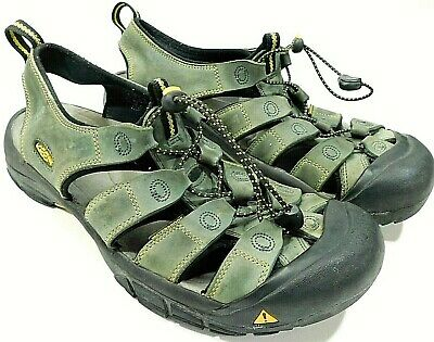 006c301418d KEEN Newport Bison Sandals Gray Trail Leather Hiking Casual Sport Men's 11.5