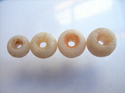 4 Ancient Roman Quartz Beads Romans VERY RARE!  TOP !!