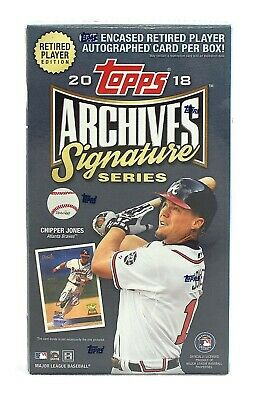 2018 Topps Archives Retired Player Edition Baseball Hobby Box FACTORY SEALED