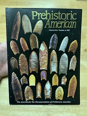 Special Folsom Issue Prehistoric American Indian Artifacts Book 2007 Paleo