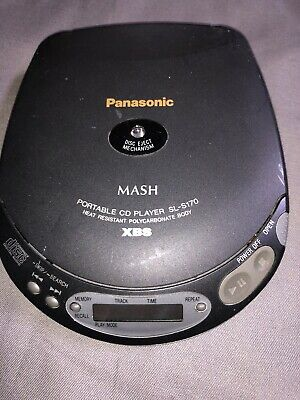 Vintage Panasonic SL-S170 Portable Cd Player No Batteries Included 2 AA Works!!