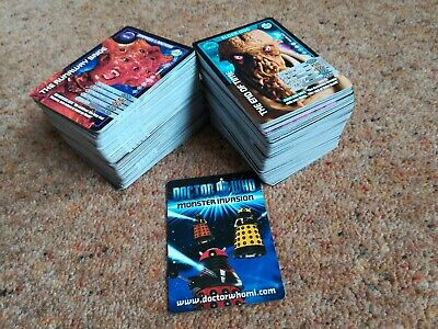 Huge Job Lot of 340 Doctor Who Monster Invasion Cards Bundle BBC Commons Rares
