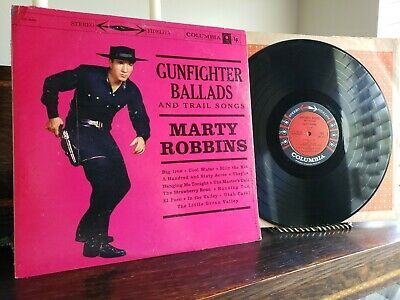 MARTY ROBBINS GUNFIGHTER BALLADS Columbia CL 1349 -  6 Eye Stereo EX