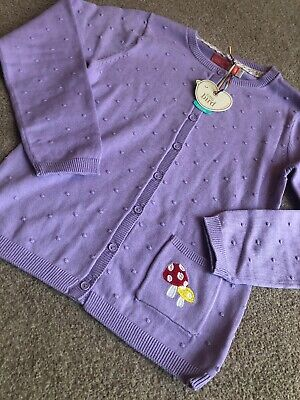 Little Bird By Jools Oliver Lilac Pointelle Toadstool Cardigan 9-10 Years