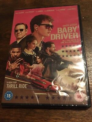 Baby Driver  with Ansel Elgort New Sealed (DVD 2017)