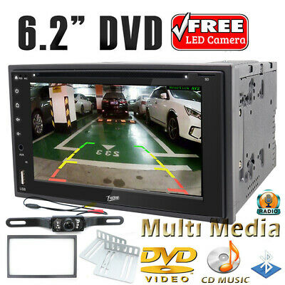 """New 6.2"""" Double Din Car Cd Dvd Stereo Fm/Am Radio Usb Player & Backup Camera"""