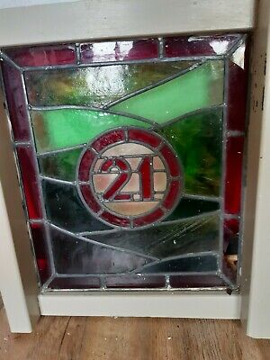 Victorian stained glass window panel no 21