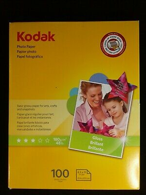Kodak Photo Paper 71 Sheets 8.5x11in Gloss 6.5mil 48lb OPENED PACK