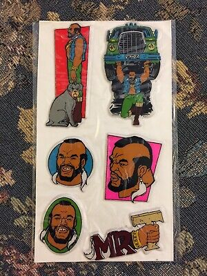 Vintage 1983-1984 Sheet Of Mr. T Cartoon Puffy Stickers