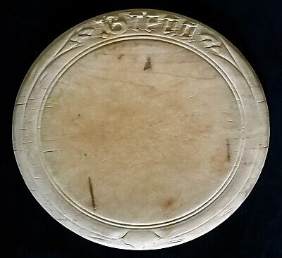 """vintage kitchen WOODEN """"Bread"""" CUTTING BOARD Carved Oval Chop Cheese Farm Rustic"""