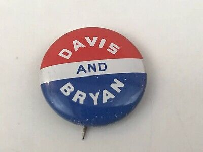 Vintage Davis And Bryan Political Pin Button Red White Blue A-O-1972-16 SB1A