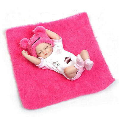 Mini 10in Preemie Reborn Baby Dolls Full Silicone Vinyl With Magnetic Pacifier