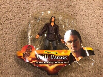 Pirates of The Carribean Prisoner Will Turner Zizzle Figure w/o Sword & Navigati
