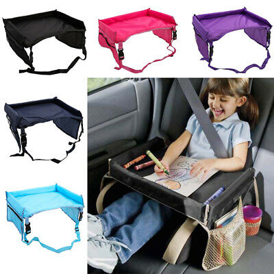 Safety Waterproof Snack Baby Car Seat Table 5 Colours Kids Play Travel Tray -Lef